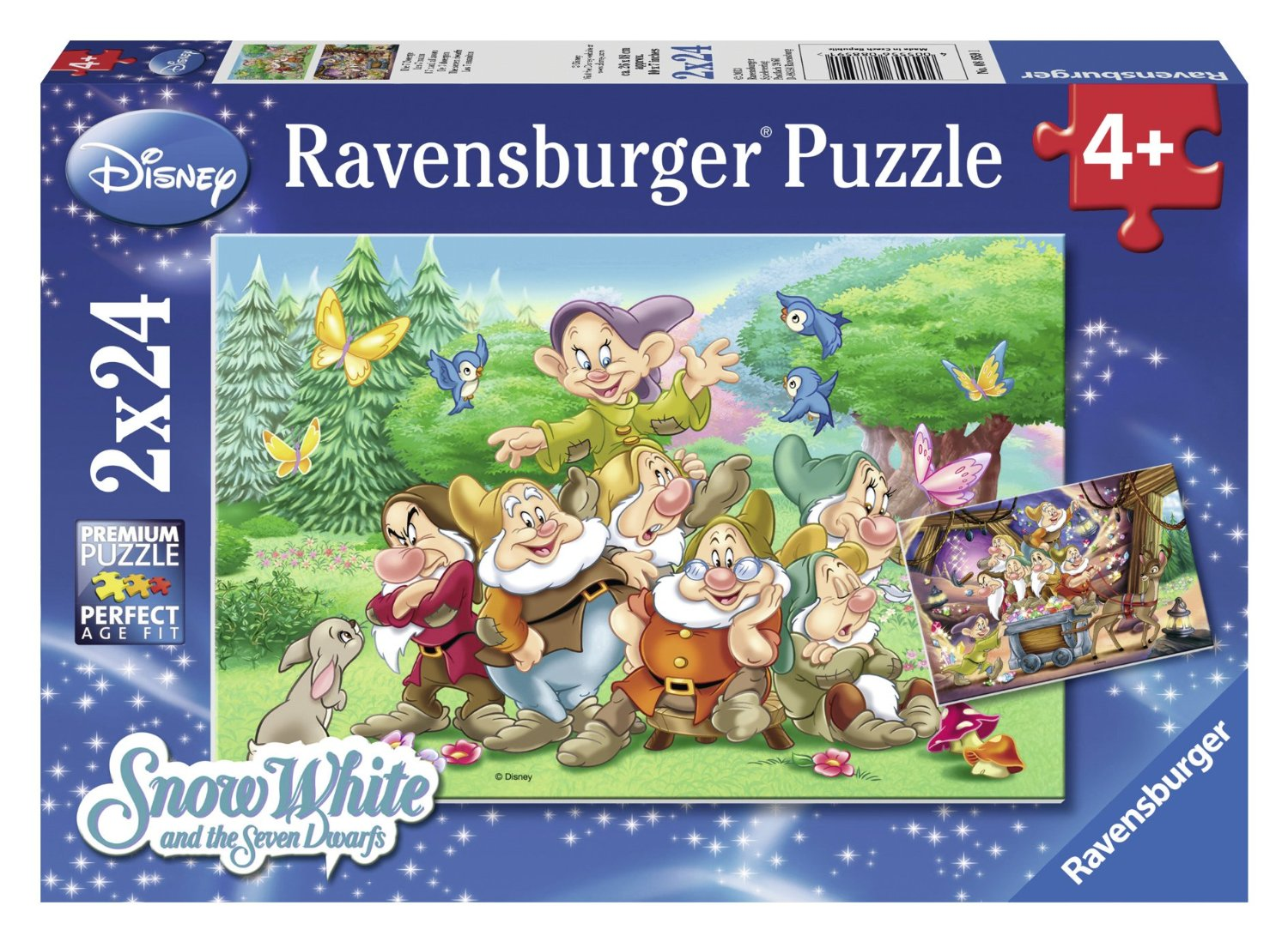 2 puzzles blanche neige and the 7 dwarfs ravensburger. Black Bedroom Furniture Sets. Home Design Ideas