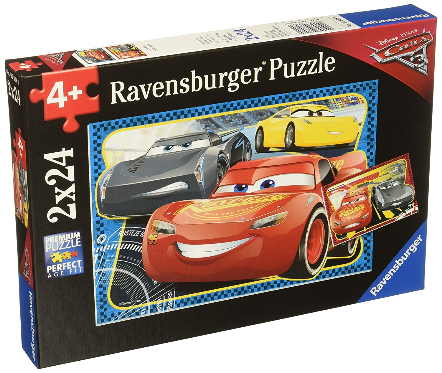 2 puzzles cars 3 ravensburger 07808 24 pieces jigsaw puzzles cars jigsaw puzzle. Black Bedroom Furniture Sets. Home Design Ideas