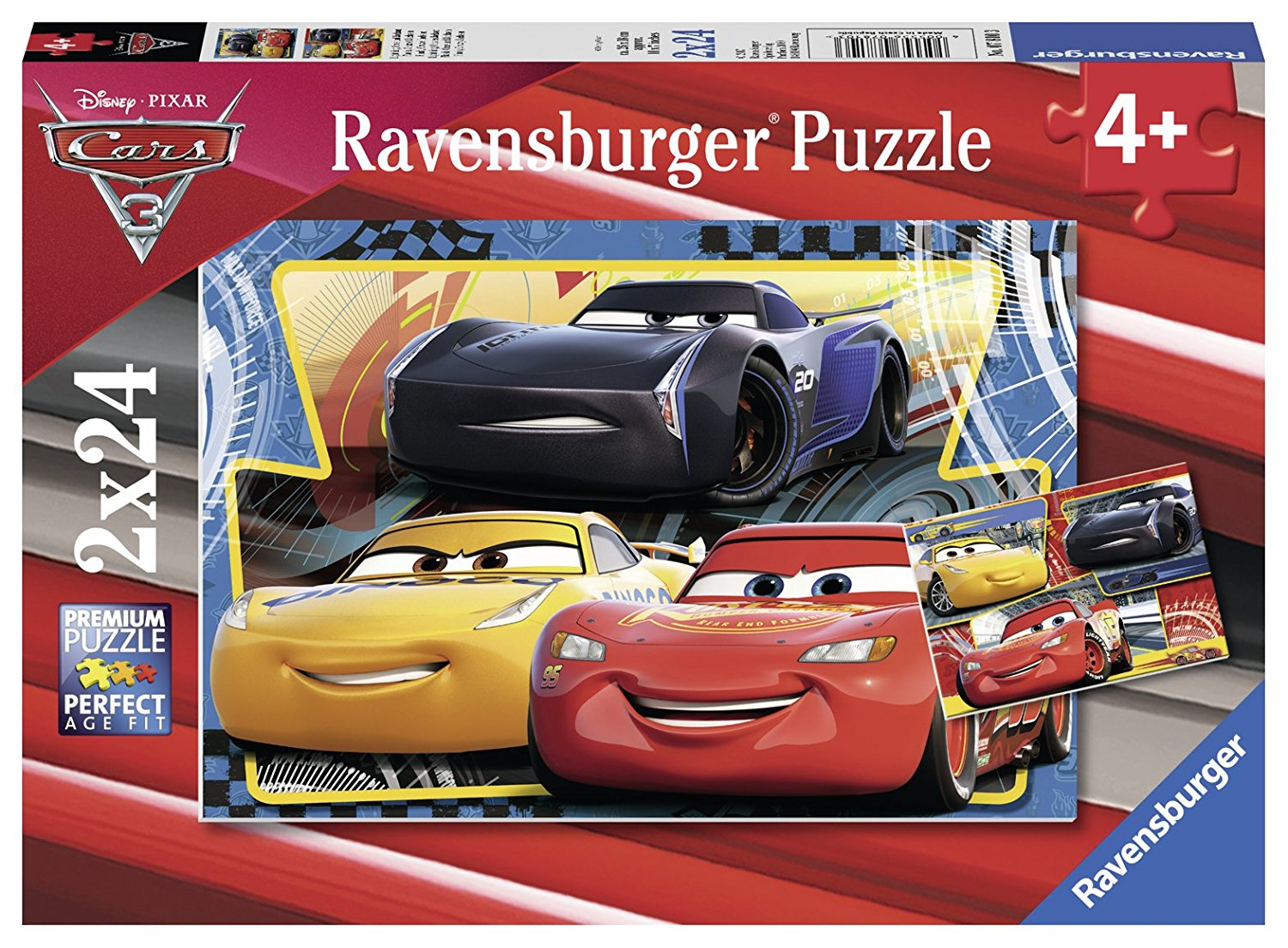 2 puzzles cars 3 ravensburger 07810 24 pieces jigsaw puzzles cars jigsaw puzzle. Black Bedroom Furniture Sets. Home Design Ideas