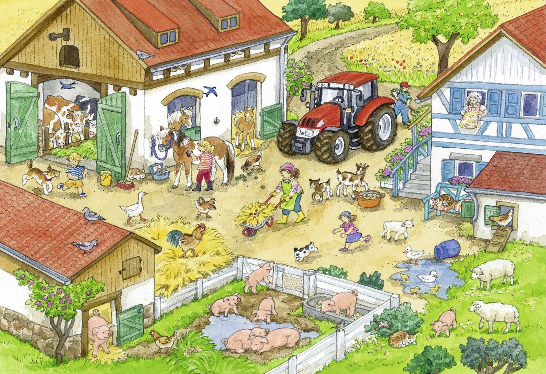 Двор для домашних животных картинки для детей