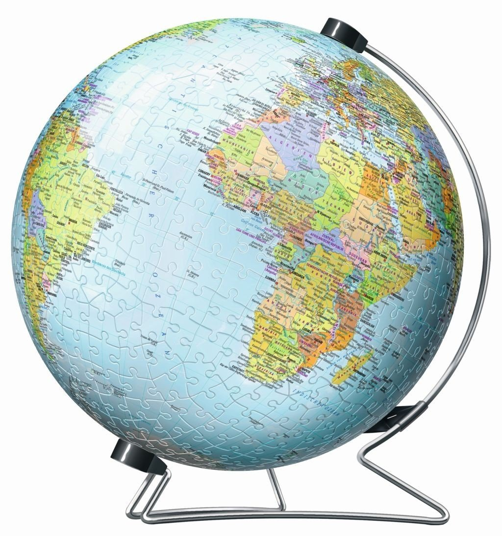 3D Jigsaw Puzzle - Globe in German Language Ravensburger ...