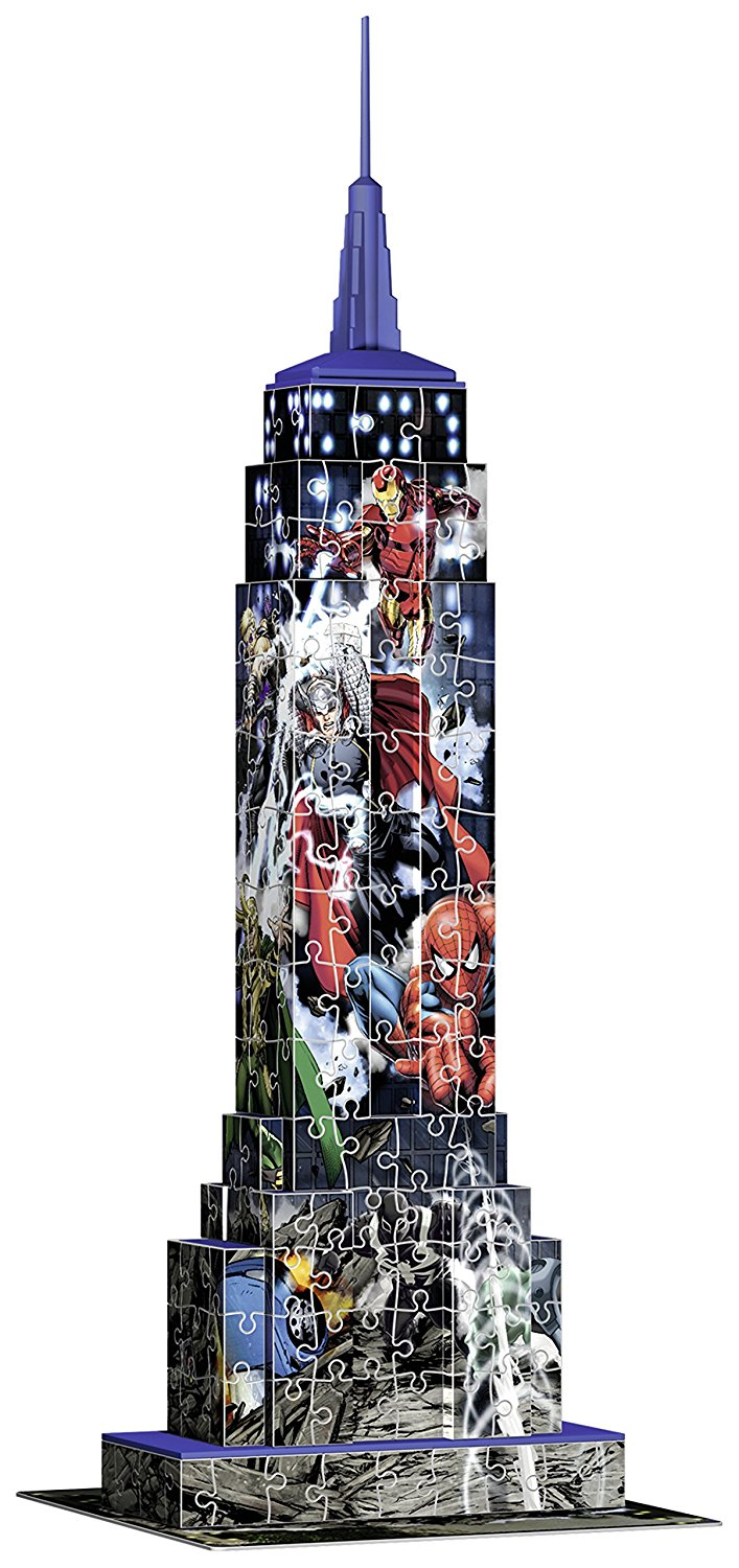3d jigsaw puzzle marvel empire state building ravensburger 12517 216 pieces jigsaw puzzles. Black Bedroom Furniture Sets. Home Design Ideas
