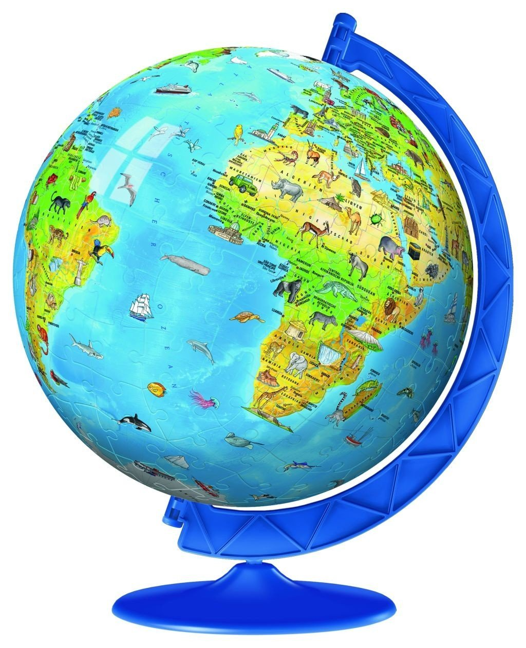 3D Jigsaw Puzzle - World Map in German Ravensburger-12337 ...