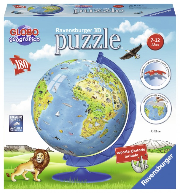 3d Jigsaw Puzzle World Map In Spanish Ravensburger 12341 180