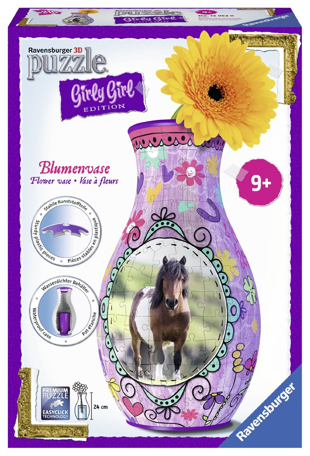 3d Puzzle Girly Girls Edition Flower Vase Ravensburger