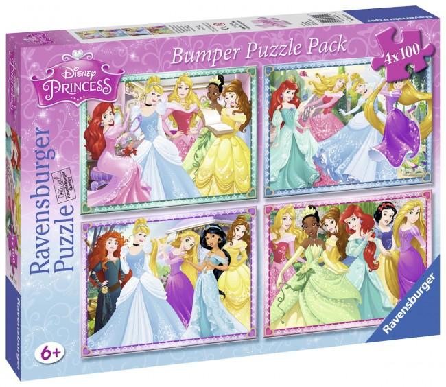 4 Jigsaw Puzzles Disney Princess Ravensburger07011 100 pieces