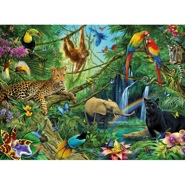 Puzzle Animals Of The Jungle Ravensburger-12660 200 Pieces