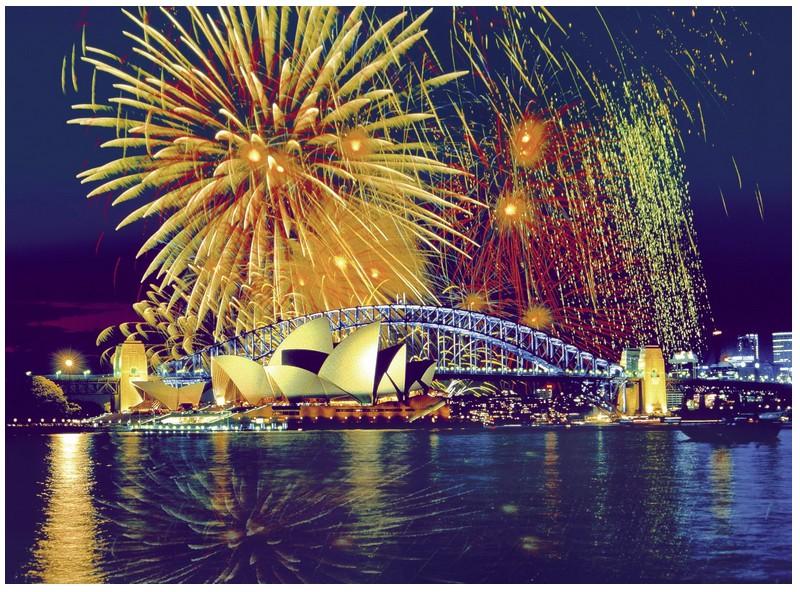 Puzzle Australia, fireworks on Sydney Ravensburger-16622