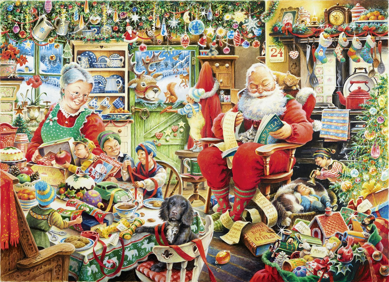puzzle before christmas ravensburger19562 1000 pieces
