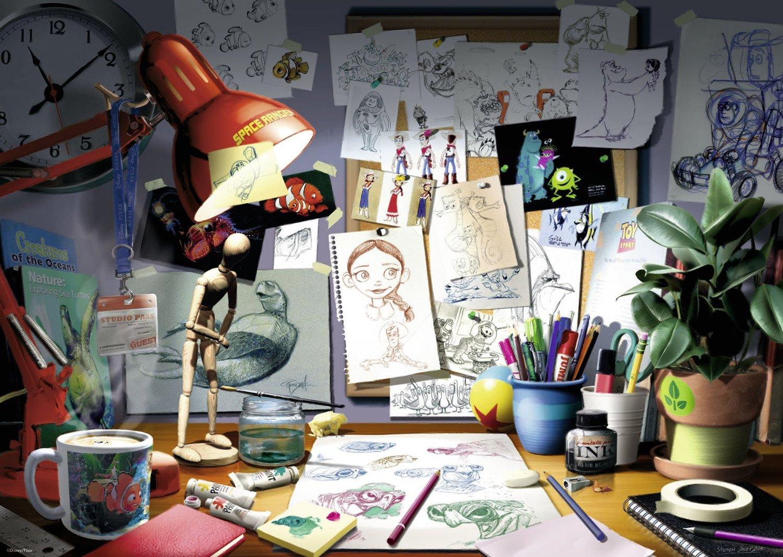 Puzzle Disney Pixar The Artist S Desk Ravensburger 19432