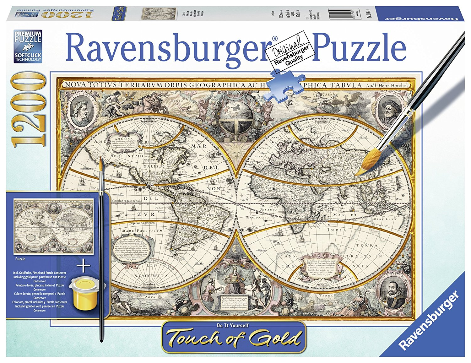 Puzzle do it yourself antique world map ravensburger 19931 1200 do it yourself antique world map gumiabroncs Images
