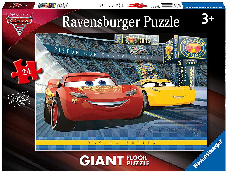 floor puzzle cars 3 ravensburger 05517 24 pieces jigsaw puzzles cars jigsaw puzzle. Black Bedroom Furniture Sets. Home Design Ideas