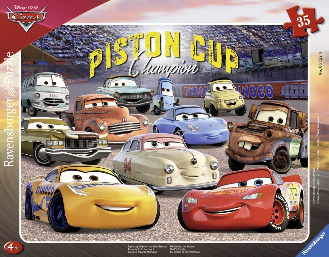 Frame Jigsaw Puzzle Cars 3 Ravensburger 06157 35 Pieces