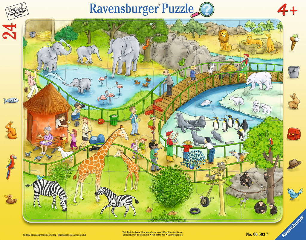 Frame Jigsaw Puzzle Zoo Ravensburger 06583 24 Pieces