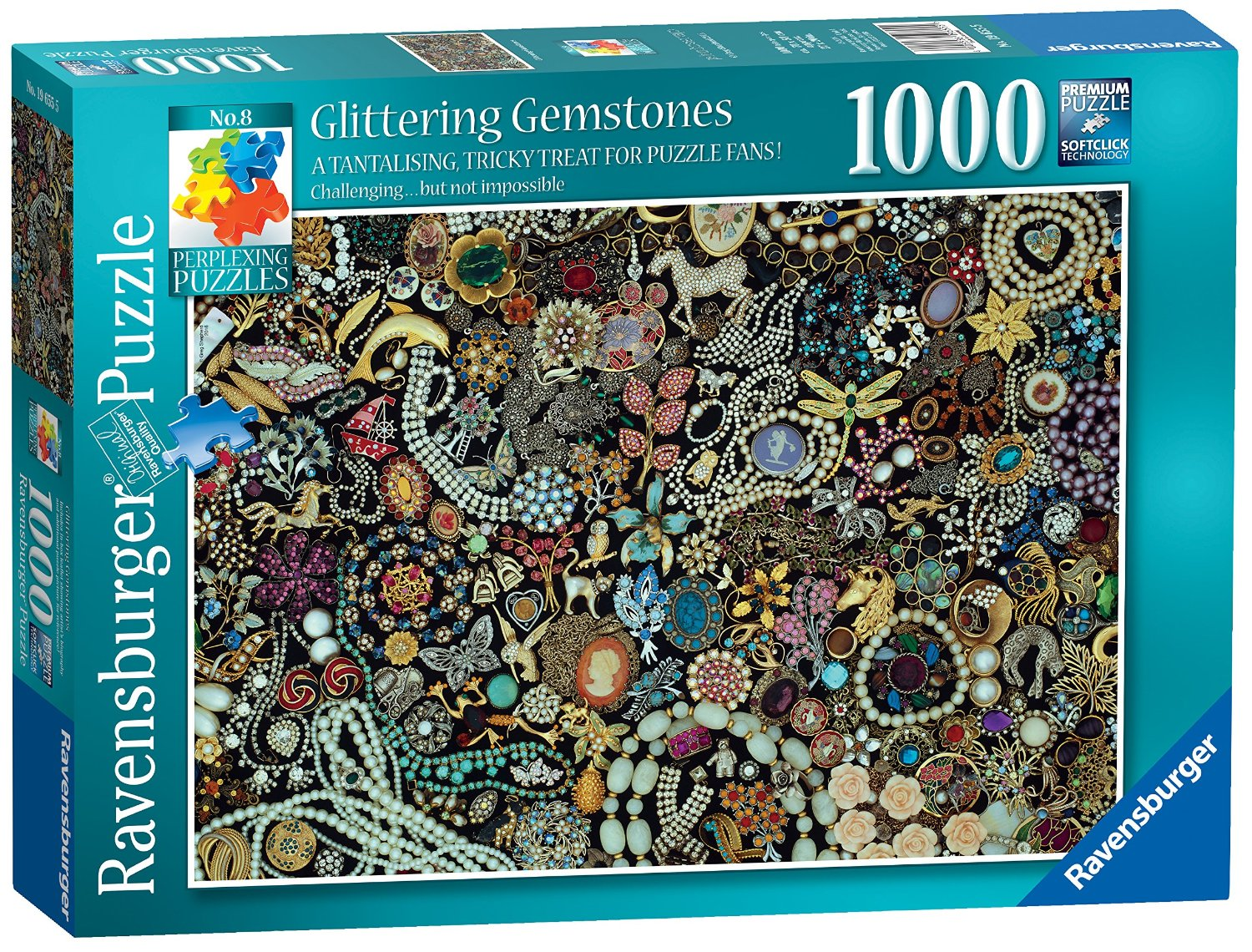 puzzle glittering gemstones ravensburger 19655 1000 pieces jigsaw puzzles deco and objects