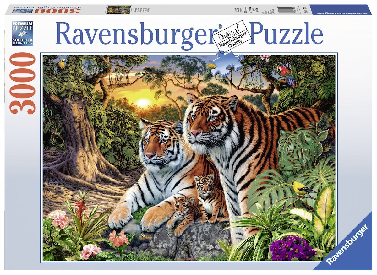 puzzle hidden tigers ravensburger 17072 3000 pieces jigsaw puzzles