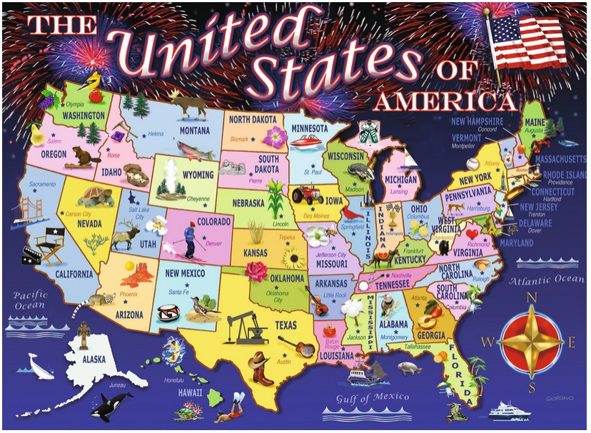 usa map puzzle 100 pieces images