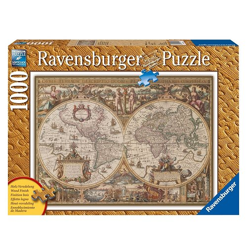 Jigsaw puzzle 1000 pieces print wood antic map of the world jigsaw puzzle 1000 pieces print wood antic map of the world gumiabroncs Choice Image