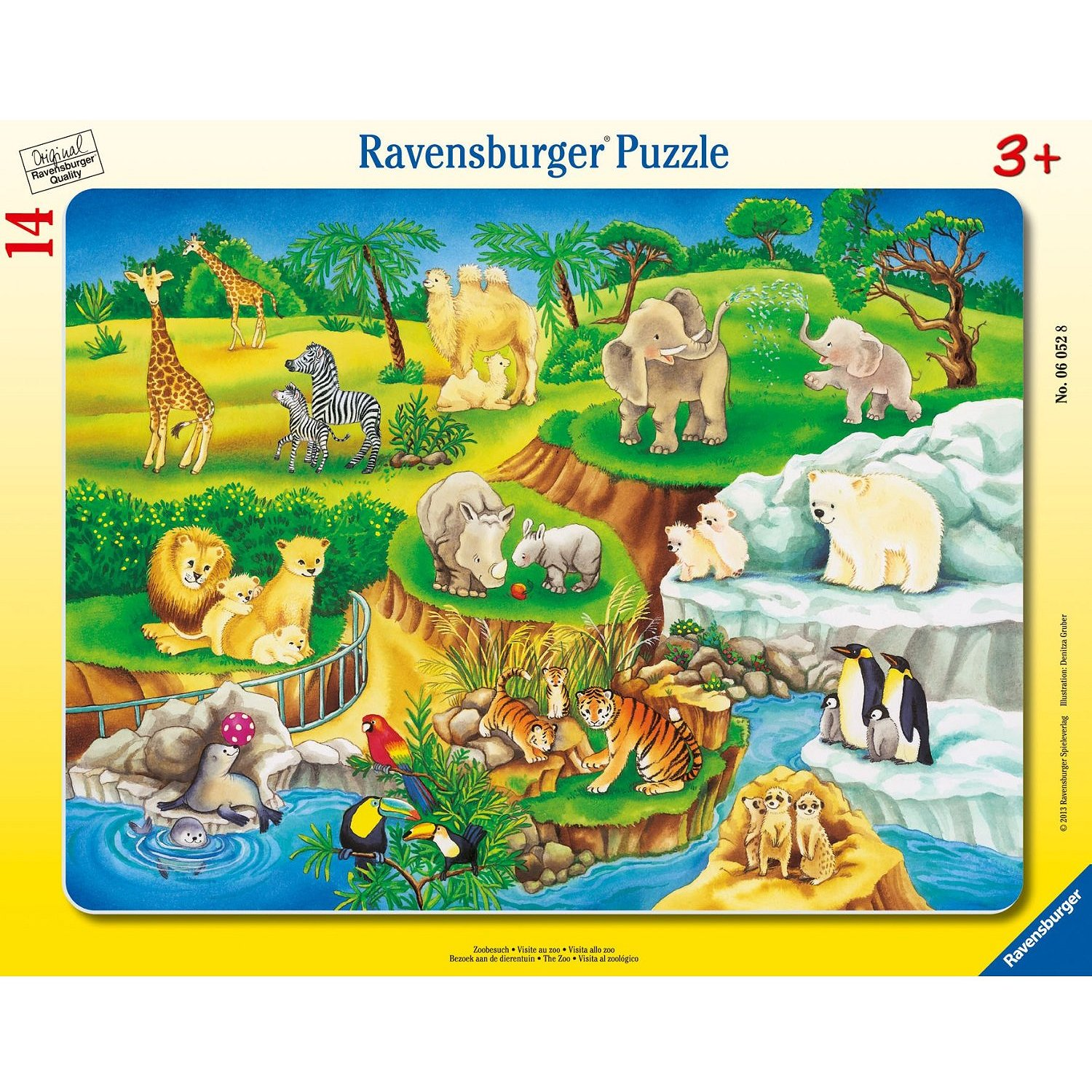jigsaw puzzle 14 pieces frame puzzle at the zoo ravensburger 06052 14 pieces jigsaw. Black Bedroom Furniture Sets. Home Design Ideas