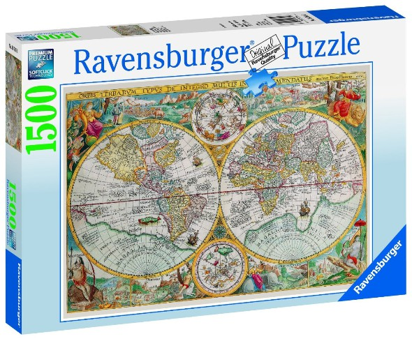 Jigsaw puzzle 1500 pieces ancient world map 1594 ravensburger 1594 jigsaw puzzle 1500 pieces ancient world map 1594 gumiabroncs