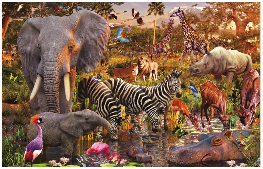 Jigsaw Puzzle Animal Wild Safari