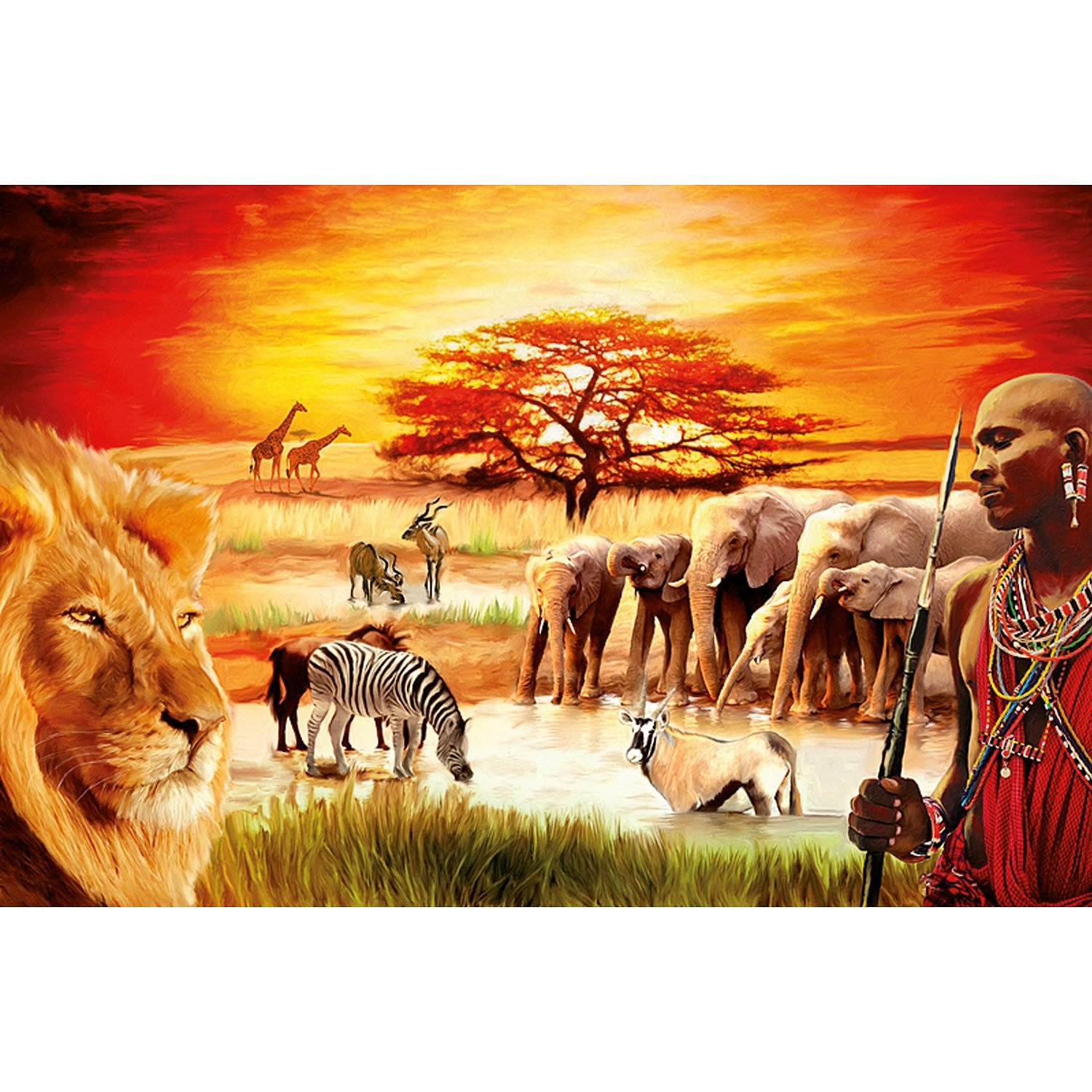 jigsaw puzzle 3000 pieces maasai 39 s proud ravensburger. Black Bedroom Furniture Sets. Home Design Ideas