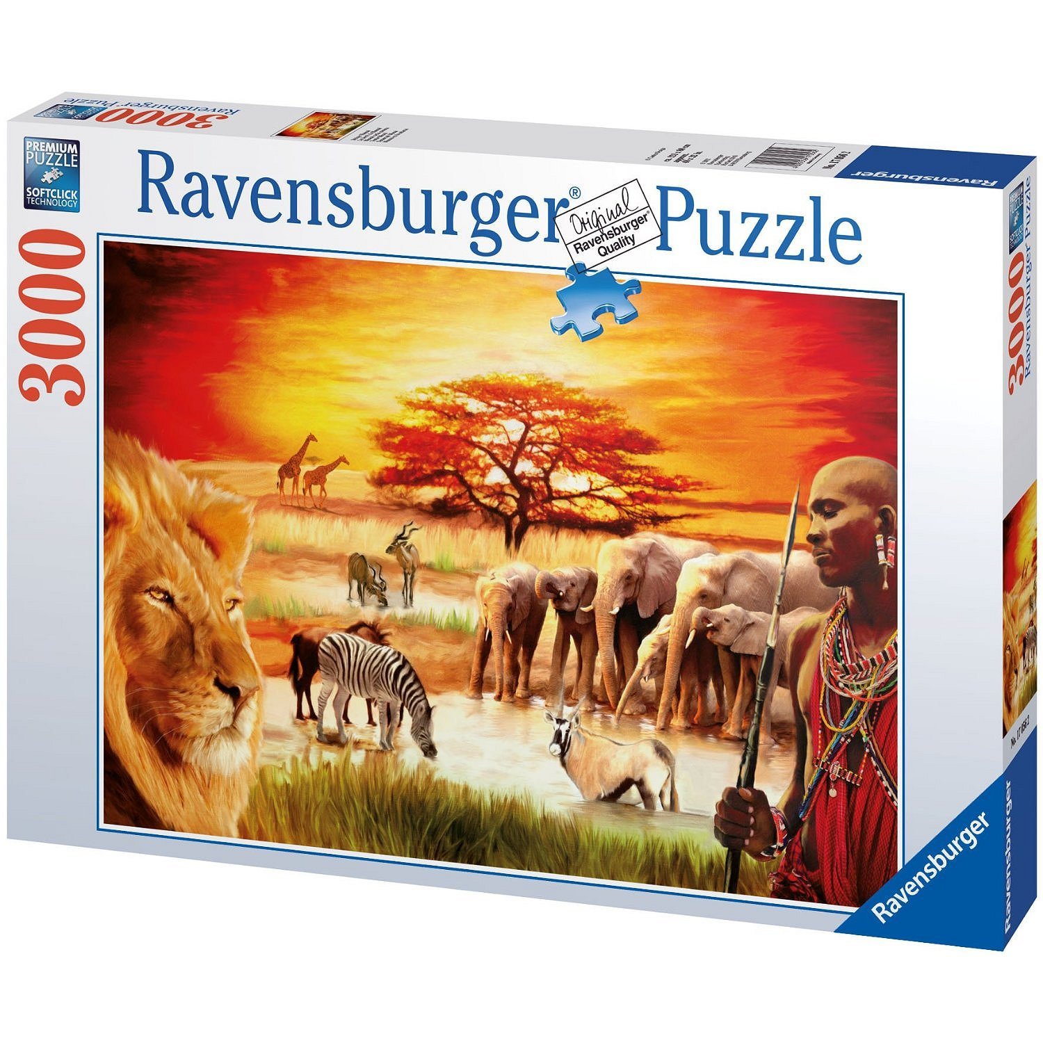 jigsaw puzzle 3000 pieces maasai 39 s proud ravensburger 17056 3000 pieces jigsaw puzzles. Black Bedroom Furniture Sets. Home Design Ideas