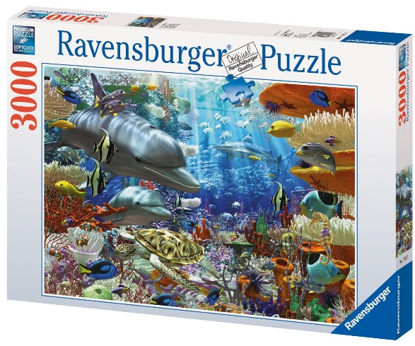 jigsaw puzzle 3000 pieces undersea life ravensburger 17027 3000 pieces jigsaw puzzles. Black Bedroom Furniture Sets. Home Design Ideas