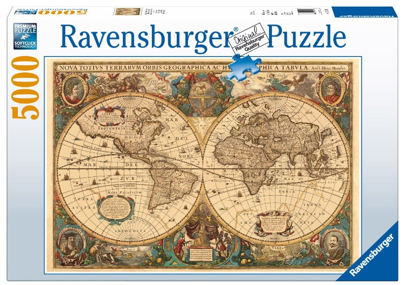 Jigsaw puzzle 5000 pieces ancient world map ravensburger 17411 jigsaw puzzle 5000 pieces ancient world map gumiabroncs Images