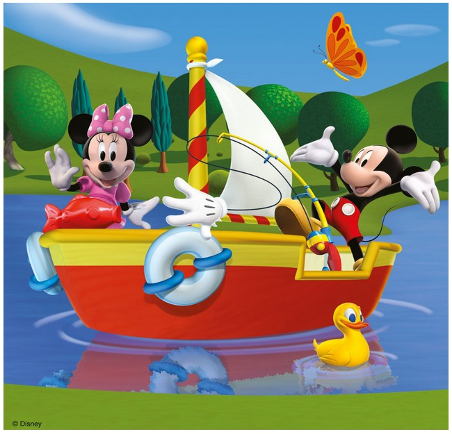 jigsaw puzzles 49 pieces each 3 in 1 everybody loves mickey