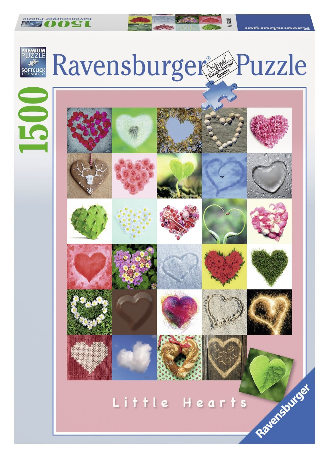 puzzle little hearts ravensburger 16294 1500 pieces jigsaw. Black Bedroom Furniture Sets. Home Design Ideas