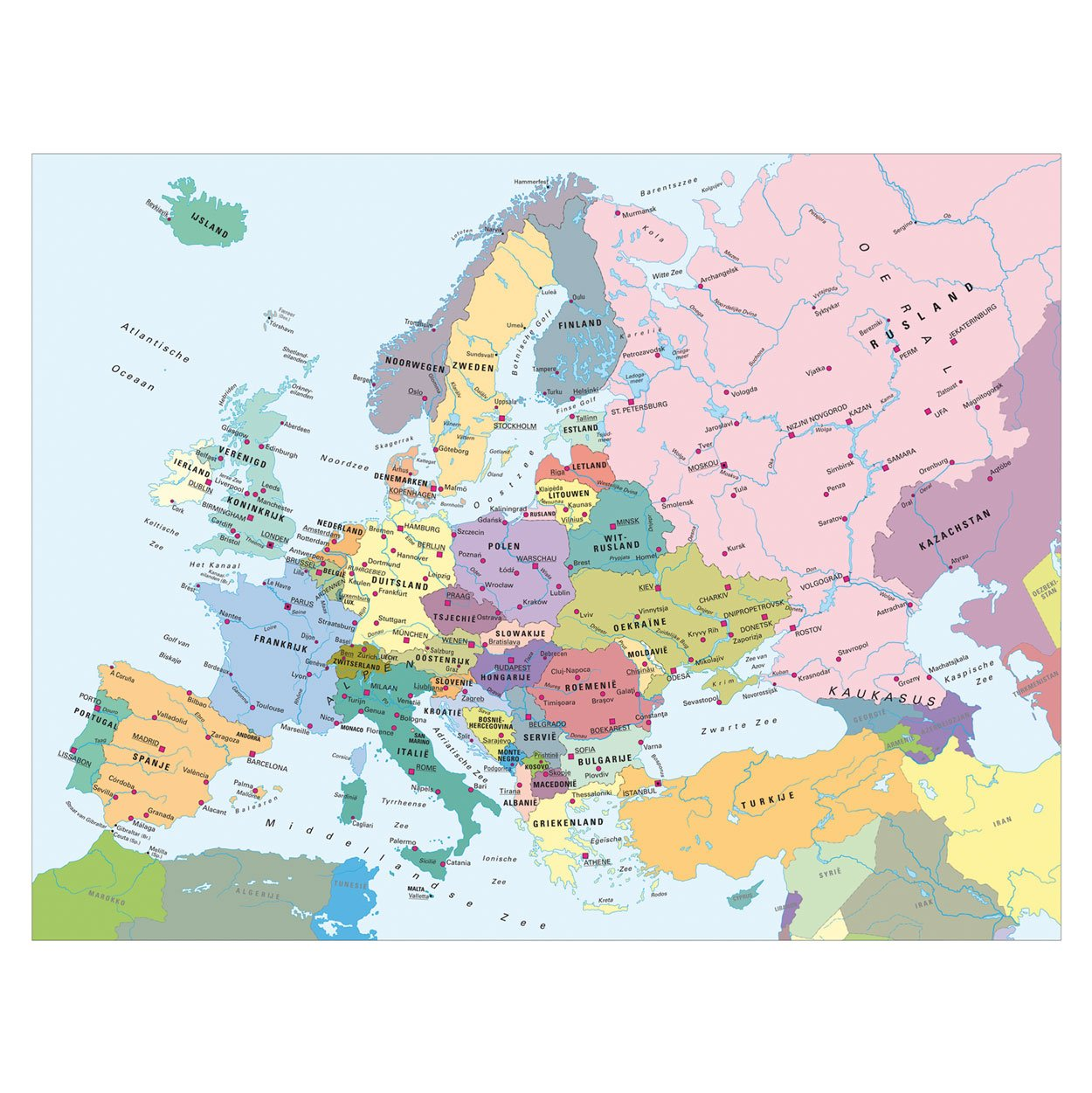 Puzzle map of europe in dutch ravensburger 13132 300 pieces jigsaw map of europe in dutch gumiabroncs Image collections