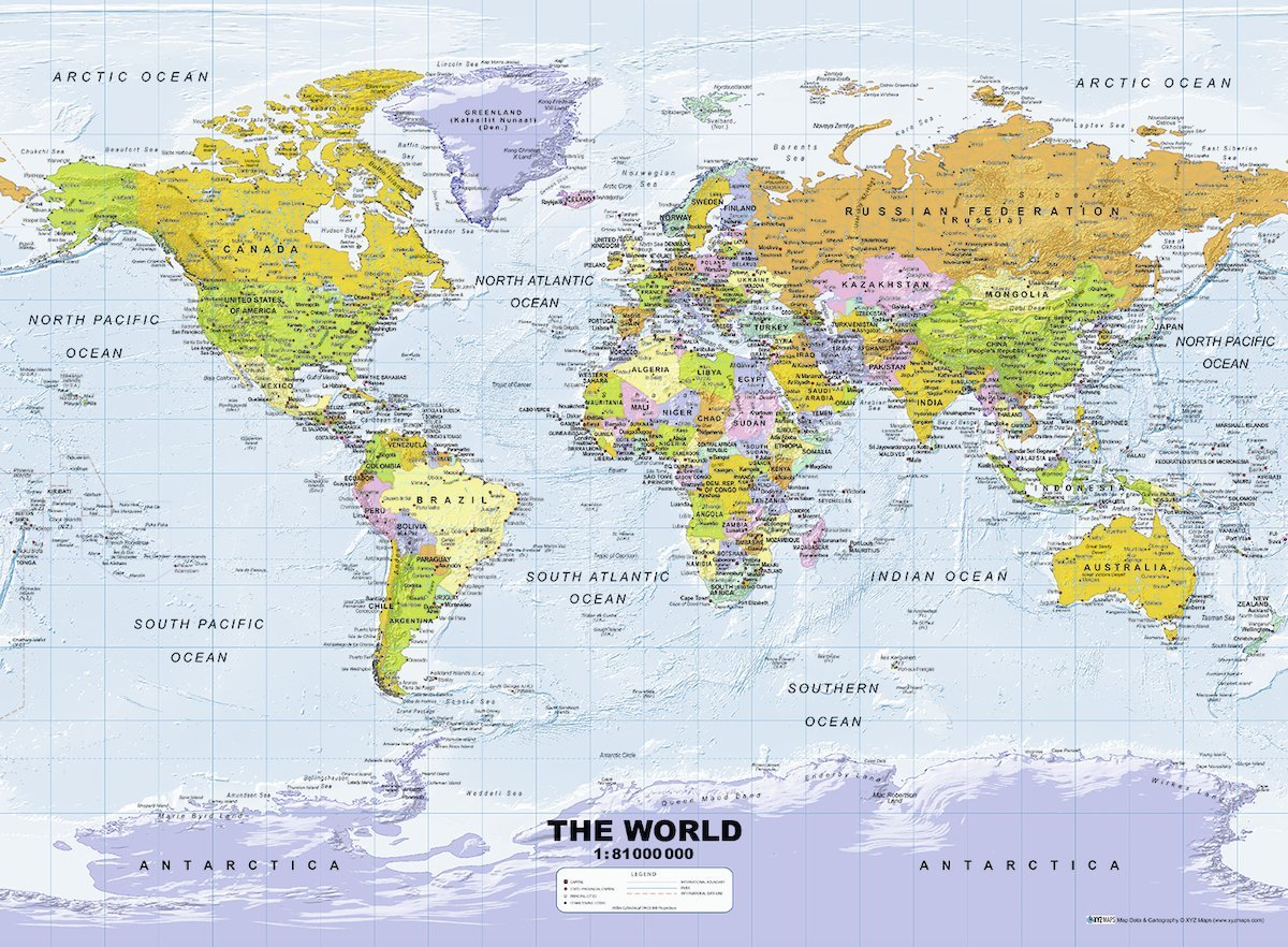Puzzle political world map ravensburger 14755 500 pieces jigsaw political world map gumiabroncs Image collections