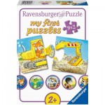 Ravensburger-03074 My First Puzzles - Animals at the Job Site (9x2 Pieces)