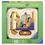 Ravensburger-03226 Wooden Jigsaw Puzzle - Excavator