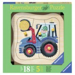 Ravensburger-03229 Wooden Jigsaw Puzzle - Tractor