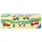 Ravensburger-03236 Wooden Jigsaw Puzzle - Very First Vehicles