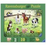 Ravensburger-03671 Wooden Jigsaw Puzzle - Farm Animals