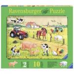 Ravensburger-03672 Wooden Jigsaw Puzzle - Farm Animals