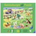 Ravensburger-03673 Wooden Jigsaw Puzzle - Farm Animals