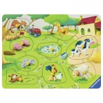 Ravensburger-03683 Wooden Jigsaw Puzzle - Farm Animals