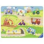 Ravensburger-03684 Wooden Jigsaw Puzzle - Favorite Vehicles
