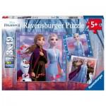 Ravensburger-05011 3 Puzzles - Frozen II