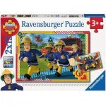 Ravensburger-05015 2 Jigsaw Puzzles - Fireman Sam