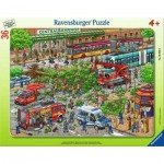 Ravensburger-05026 Frame Puzzle - Trouble on the Street