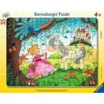 Ravensburger-05027 Frame Puzzle - Land of the little Princess
