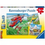Ravensburger-05033 3 Puzzles - Above the Clouds