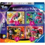 Ravensburger-05059 4 Jigsaw Puzzles - Trolls