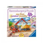 Ravensburger-05073 My First outdoor Puzzles - My Construction Site