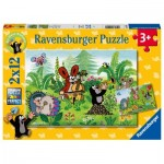 Ravensburger-05090 2 Puzzles - Gardenparty with Friends